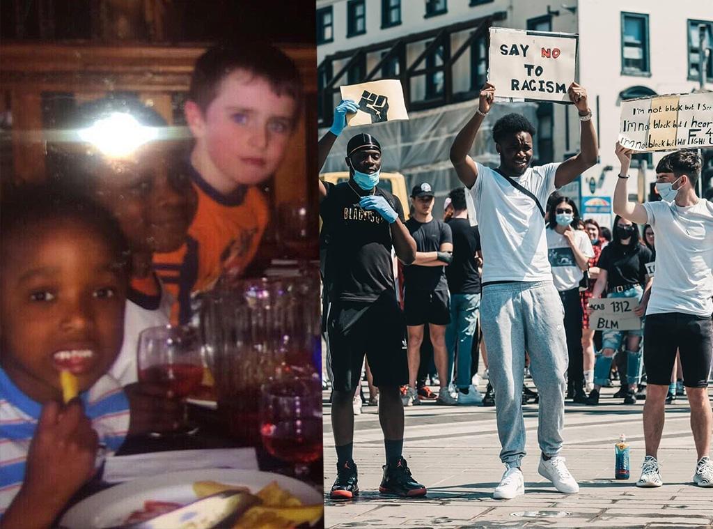 Childhood Friends Protest Together