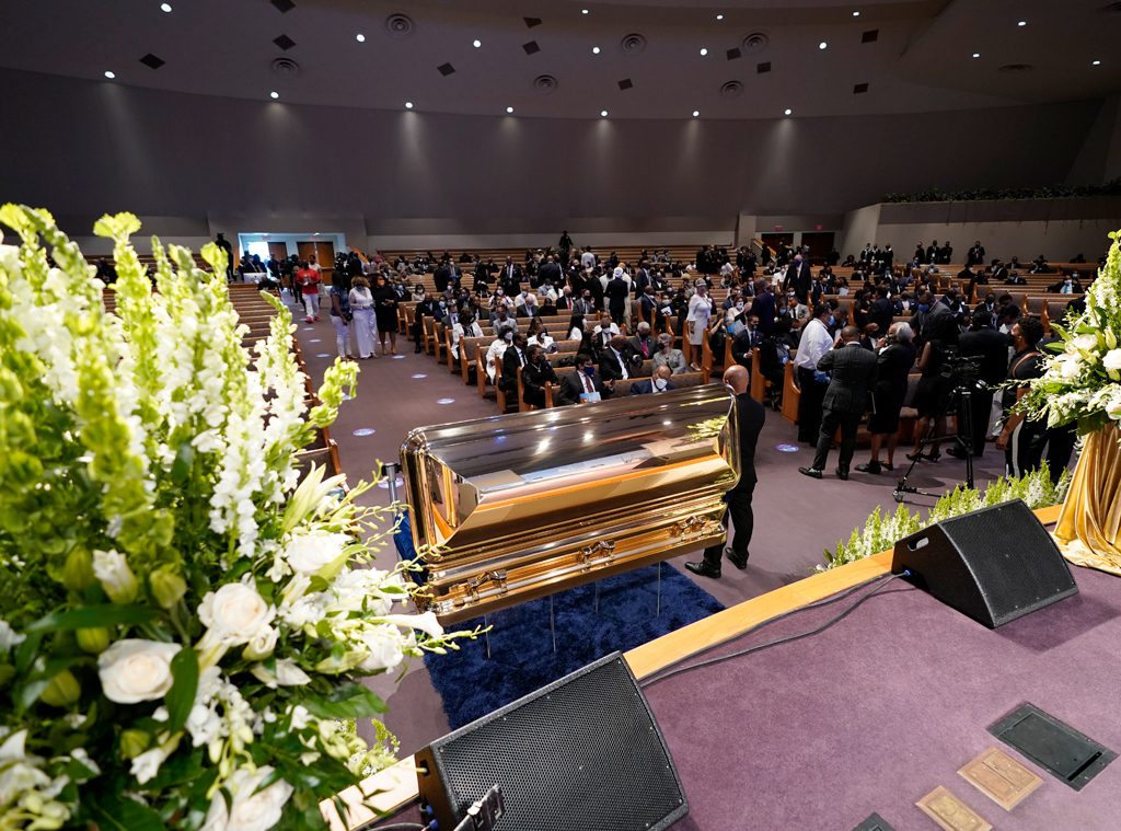 Mourners, George Floyd Funeral Service