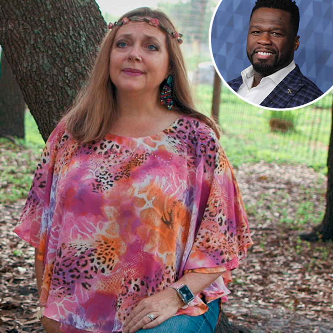 50 Cent Reacts to Tiger King Star Carole Baskin's Cameo Cover of