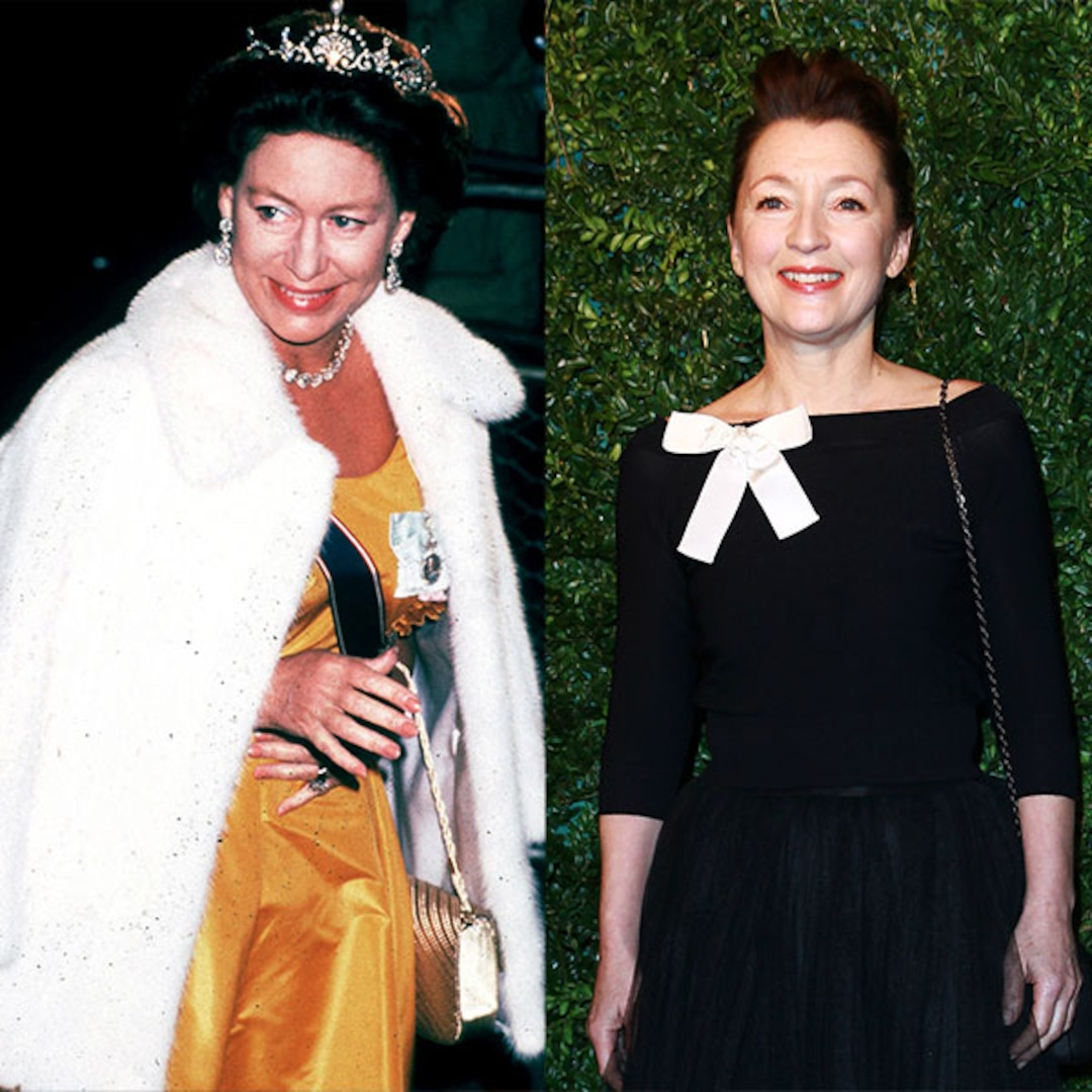 The Crown Season 5 Casts Lesley Manville as Princess Margaret - E! NEWS thumbnail
