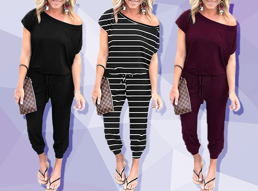 EComm, This $30 Off the Shoulder Jumpsuit Has 1,351 5-Star Amazon Reviews