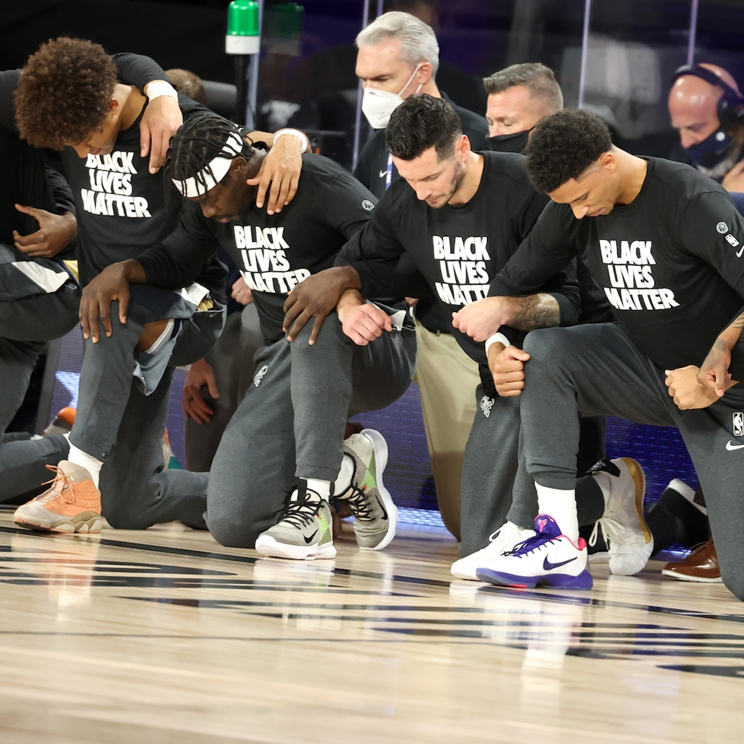Nba Season Restarts With A Nod To The Black Lives Matter Movement E Online