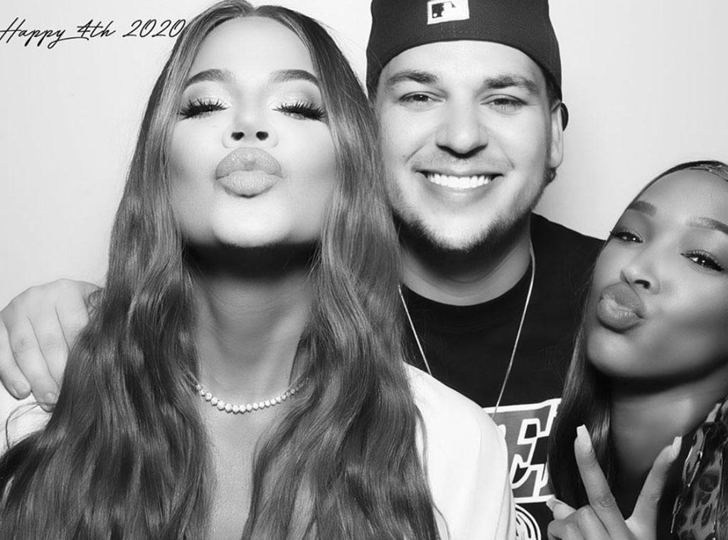 Rob Kardashian, Khloe Kardashian, Malika Haqq, Instagram