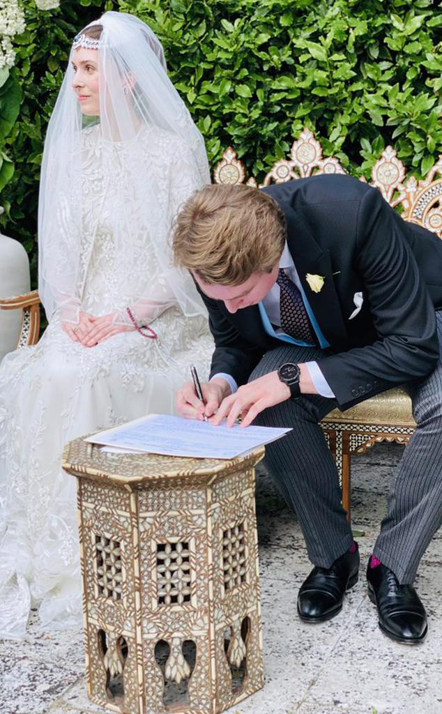 Princess Raiyah bint Al-Hussein, Ned Donovan, wedding