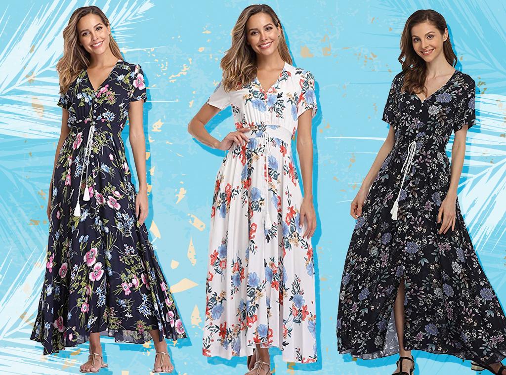E-Comm: Amazon Floral Maxi Dress