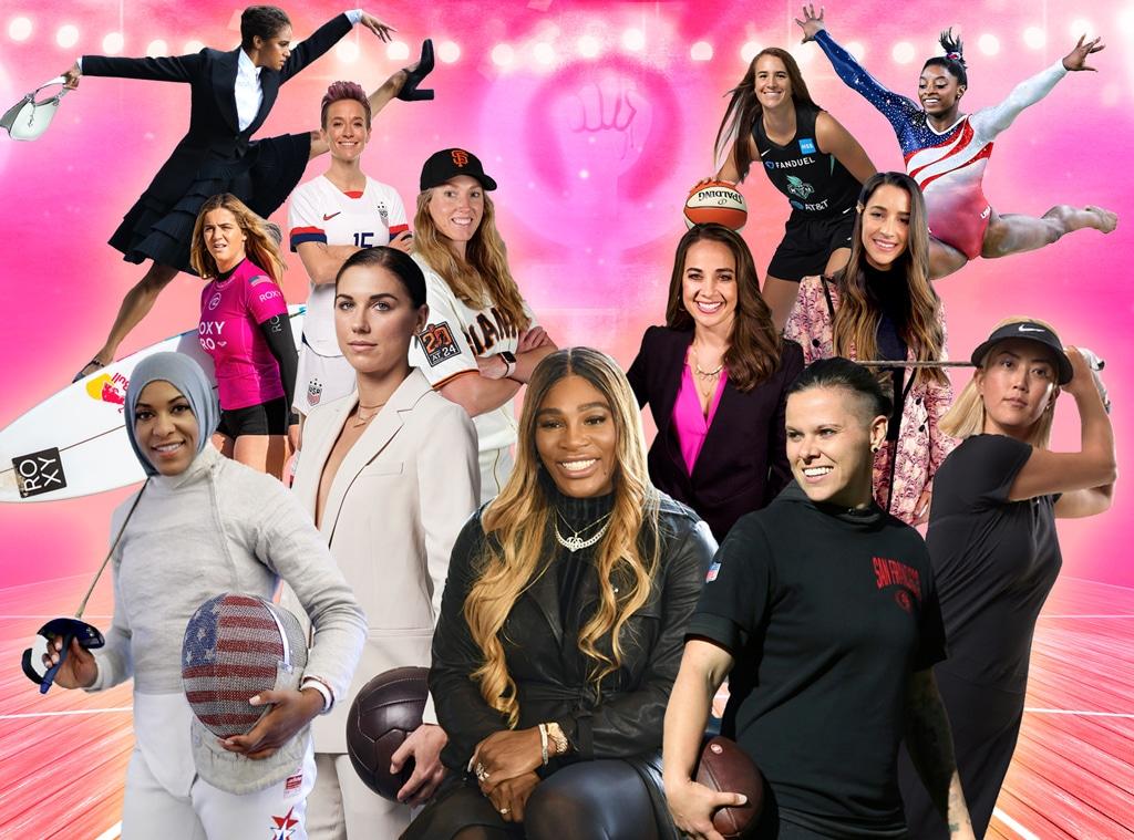 Female Athletes, Women Empowerment, Serena Williams Aly Raisman Simone Biles Sabrina Ionescu Megan Rapinoe Alex Morgan Becky Hammon