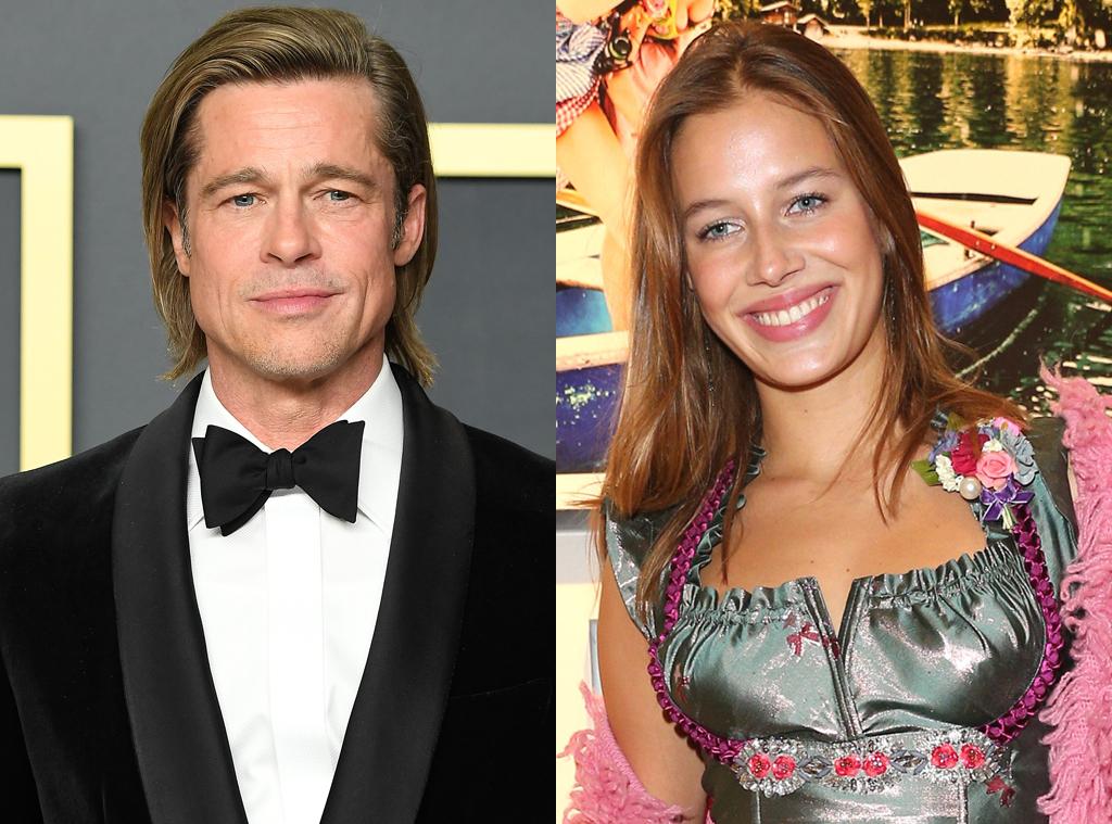 Brad Pitt Steps Out In France With German Model Nicole Poturalski E Online Ap