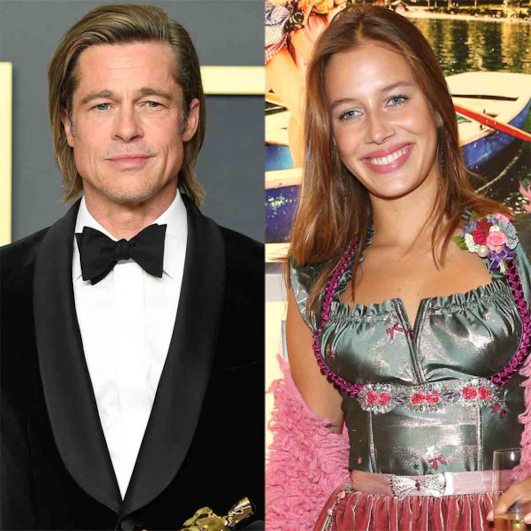 Brad Pitt Steps Out In France With German Model Nicole Poturalski E Online