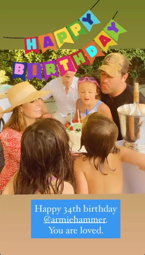 Eliabeth Chamber, Armie Hammer, 34th Birthday, Kids