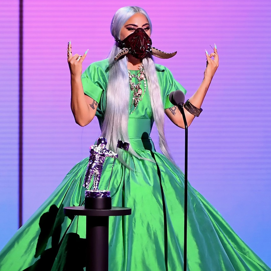 Lady Gaga's Many Face Masks Were the Best Part of the 2020 MTV VMAs