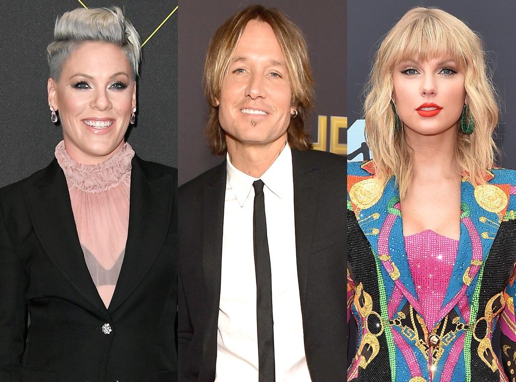 Pink, Keith Urban, Taylor Swift