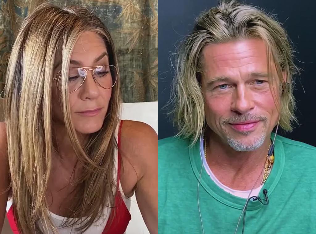 Watch Brad Pitt and Jennifer Aniston Virtually Reunite for Fast Times at Ridgemont High Read