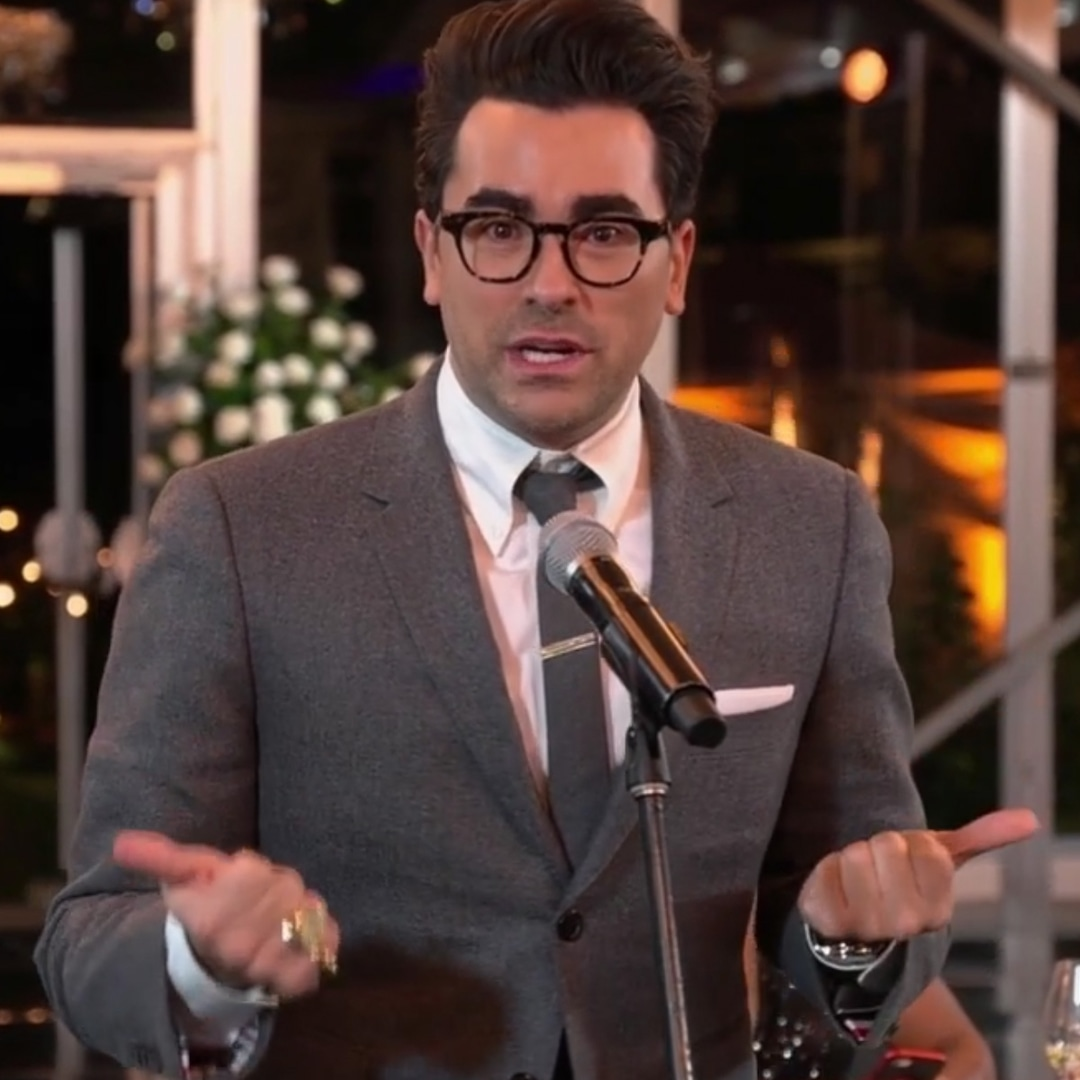 Dan Levy Accepts First Emmy With the Sweetest Shout Out to Dad Eugene - E!  Online