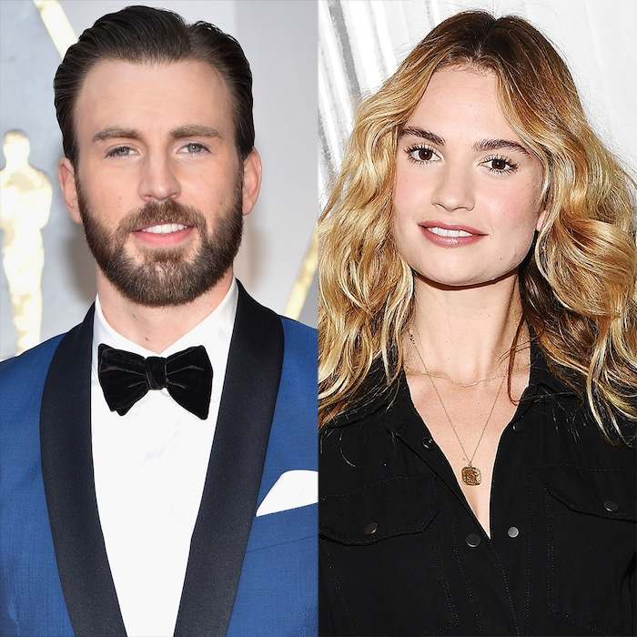 Lily James Lips Are Sealed On Chris Evans Romance Rumors E Online