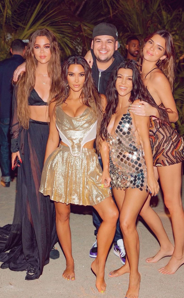 Kim Kardashian West, 40th Birthday, Kourtney Kardashian, Khloe Kardashian, Rob Kardashian, Kendall Jenner