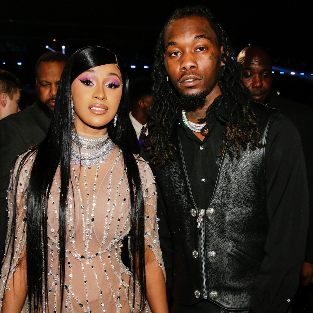 Cardi B Kisses Offset During Lavish Birthday Party One Month After Filing for Divorce – E! NEWS