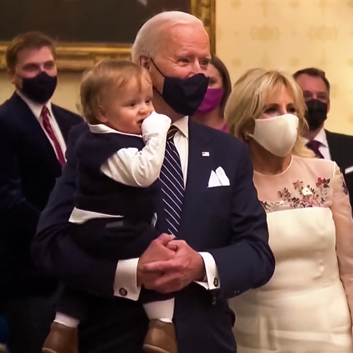 President Joe Biden Cuddles and Dances With Grandson Beau in Must-See Inauguration Day Moment