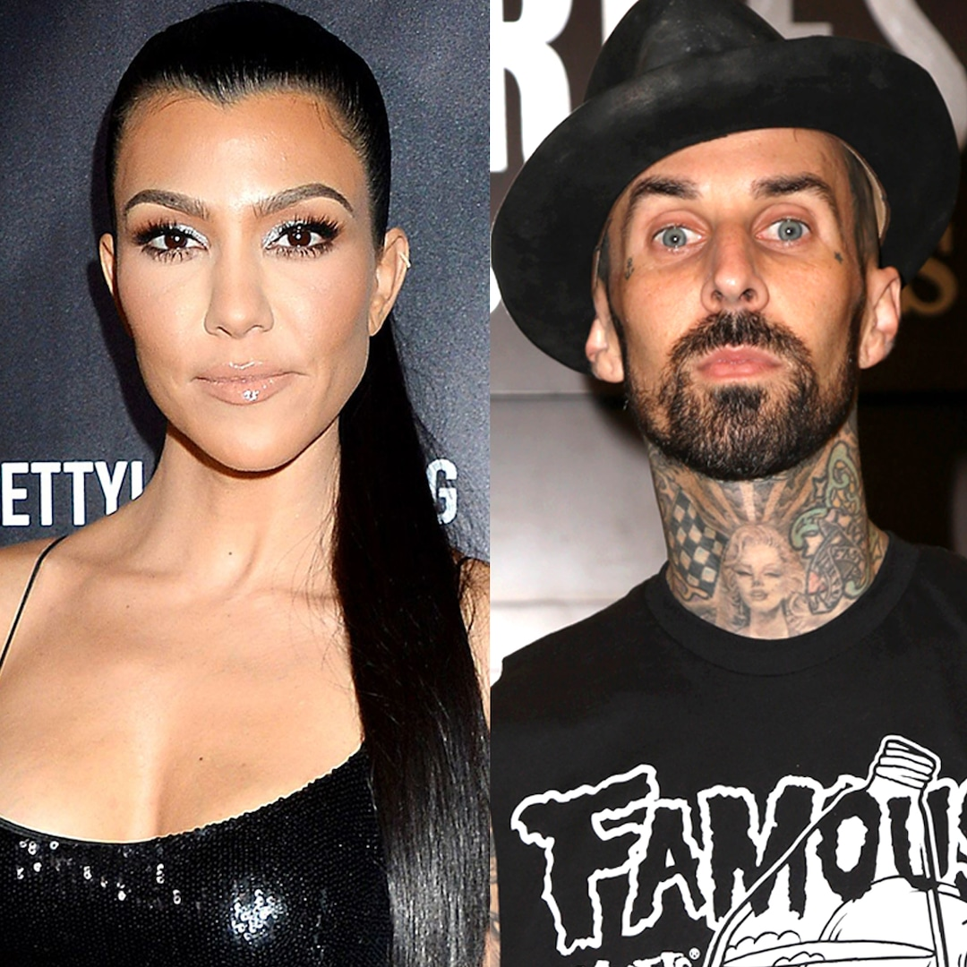 Kourtney Kardashian and Travis Barker Relax at Kris Jenner's Palm Springs Home