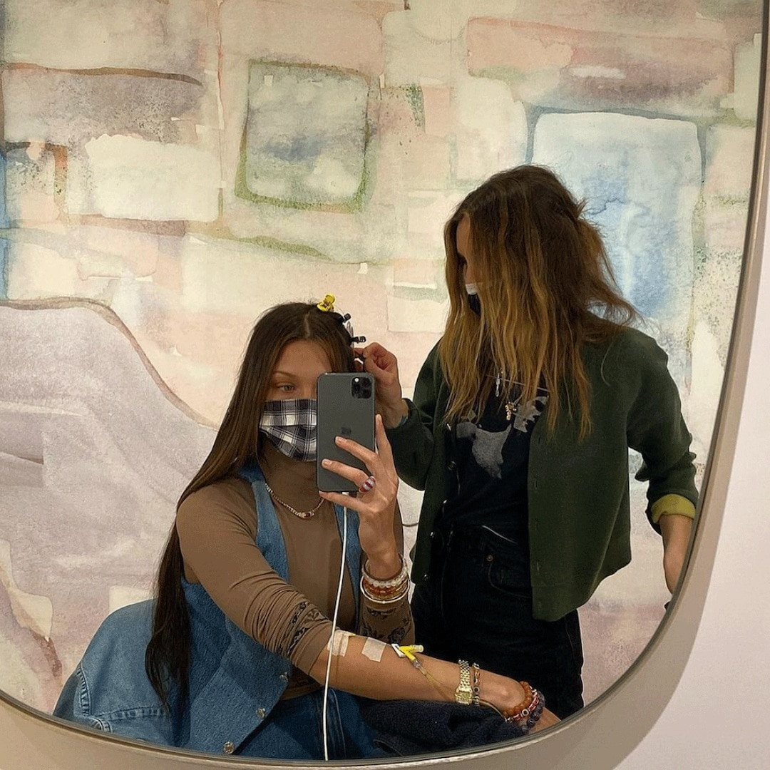 Bella Hadid Gives Glimpse Into Her Lyme Disease Battle With Photos of Her Getting an IV