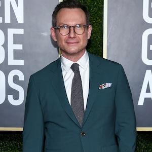 Christian Slater, 2021 Golden Globe Awards, Arrivals