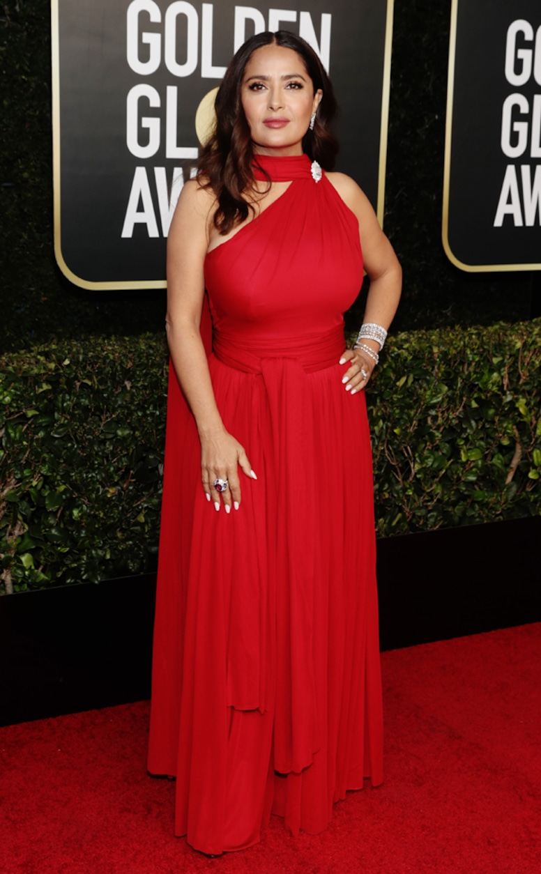 Salma Hayek, 2021 Golden Globe Awards, Arrivals