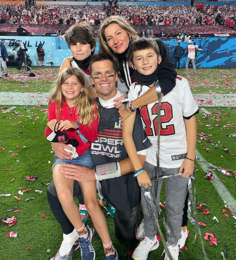 Gisele Bundchen, Tom Brady, Vivian Brady, John Edward Thomas Moynahan, Benjamin Brady, Super Bowl 2021, Tampa Bay Buccaneers, Instagram