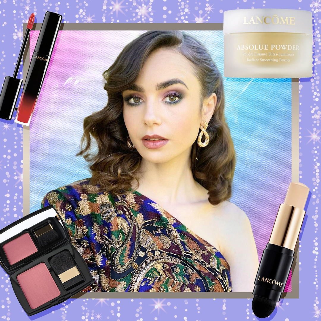 Lily Collins 2021 Golden Globes Beauty