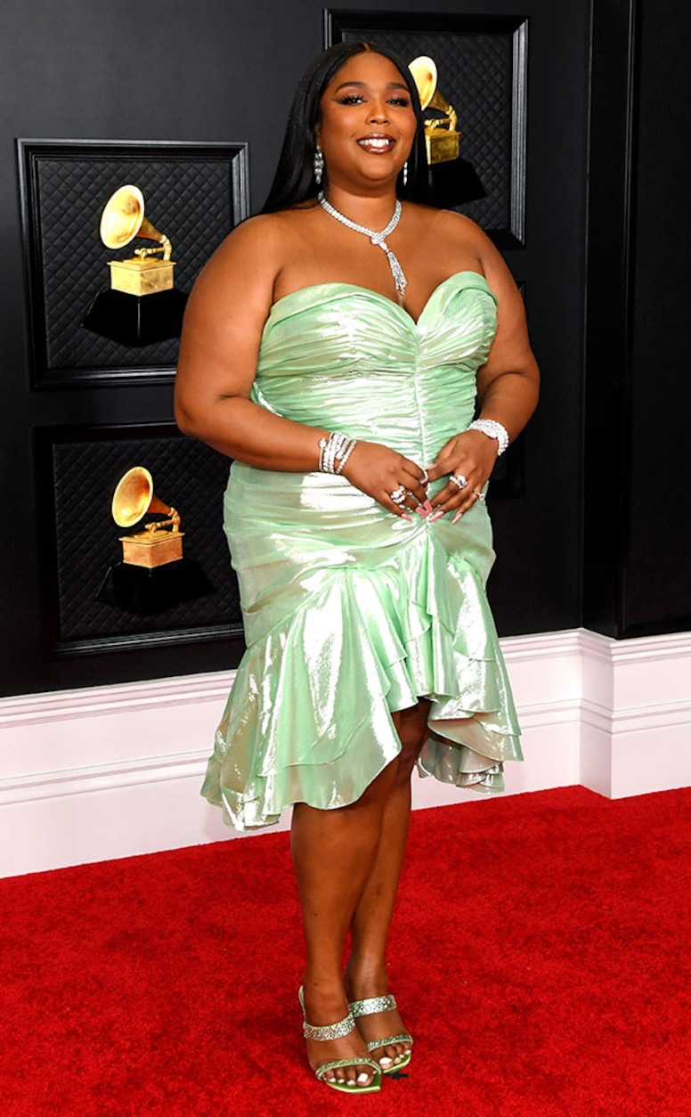 Lizzo, 2021 Grammy Awards, Red Carpet Fashion, Green