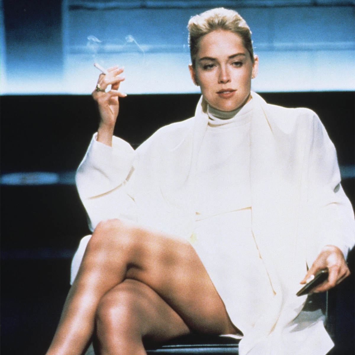 "How Sharon Stone Reacted to Her Basic Instinct ""Vagina-Shot"" - E! Online"
