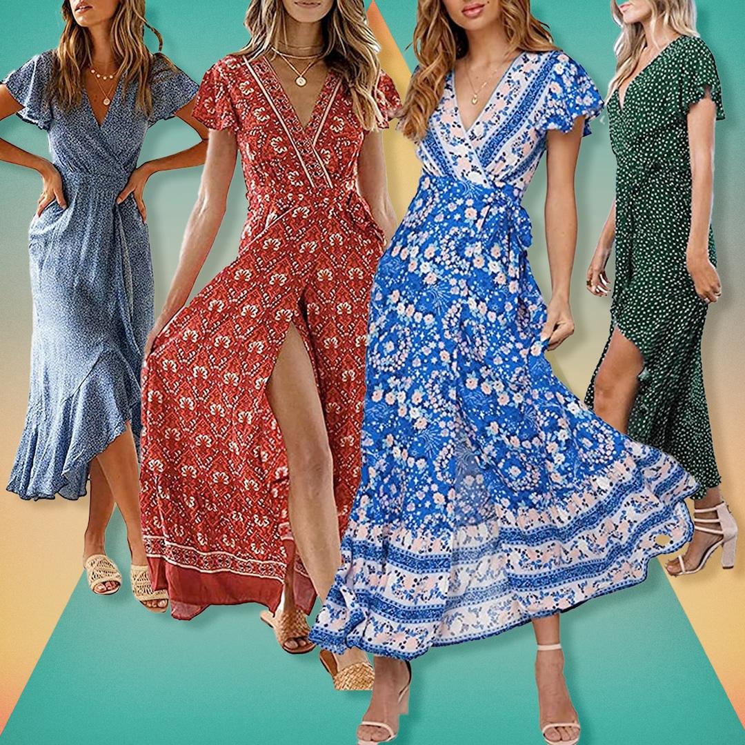 This $38 Wrap Maxi Dress Has 6,167 Five-Star Amazon Reviews