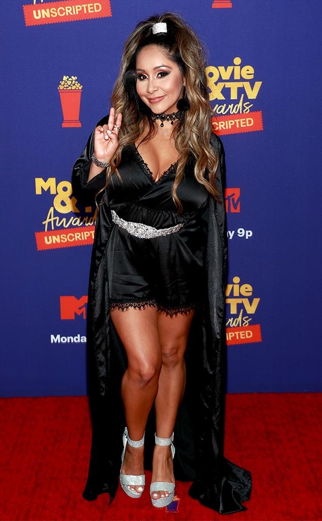 "Nicole Snooki"" Polizzi, MTV Movie & TV Awards: UNSCRIPTED, Red Carpet Fashion"