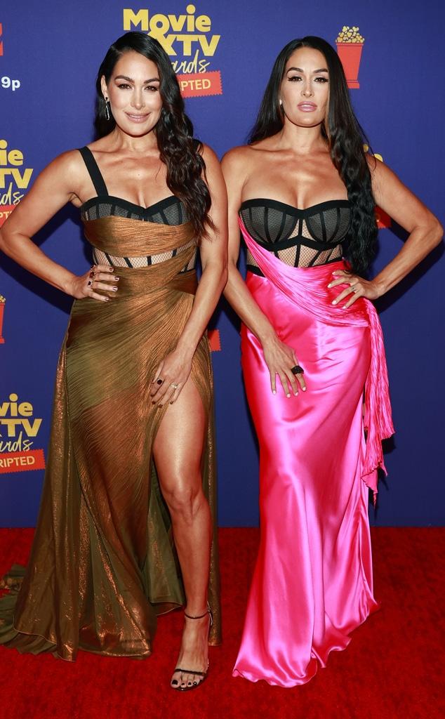 Nikki Bella, Brie Bella, MTV Movie & TV Awards: UNSCRIPTED, Red Carpet Fashion