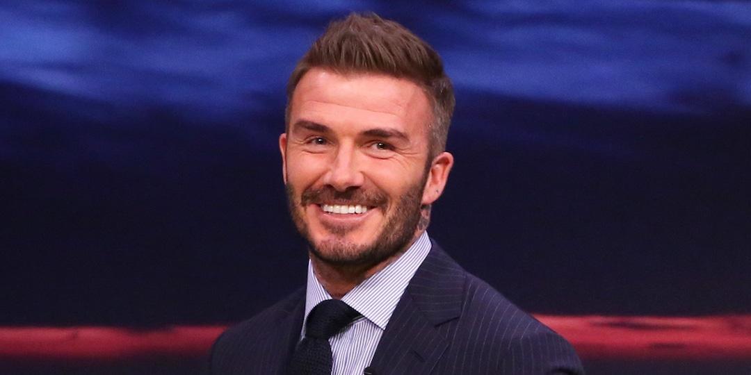 David Beckham Trolls Son Romeo After He Debuts Platinum Blonde Hair - E! Online.jpg