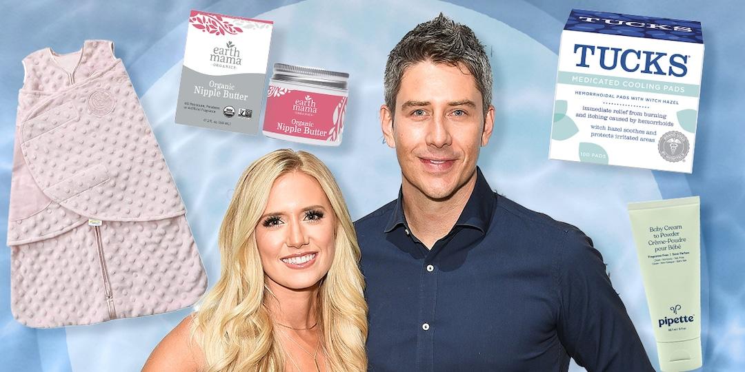 Bachelor Alums Lauren and Arie Luyendyk Jr. Share Hospital Bag Essentials - E! Online.jpg