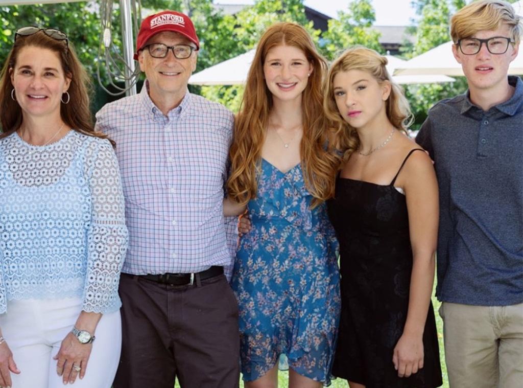 Bill Gates, Melinda Gates, Jennifer, Phoebe, Rory