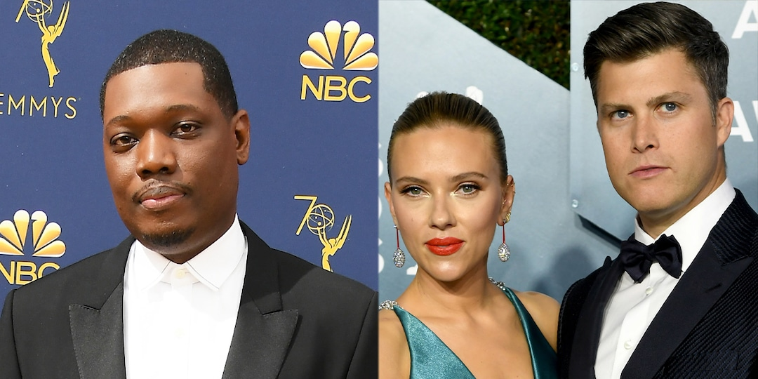 Michael Che Reveals the Only Reason He Didn't Disrupt Colin Jost and Scarlett Johansson's Wedding - E! Online.jpg