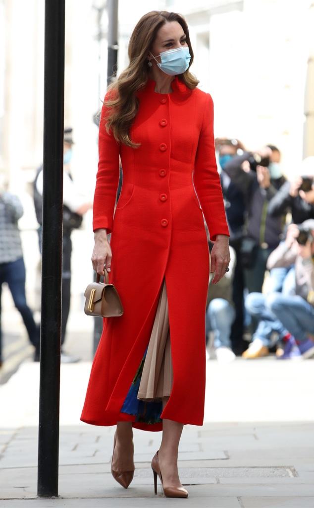 Kate Middleton, Red Coat