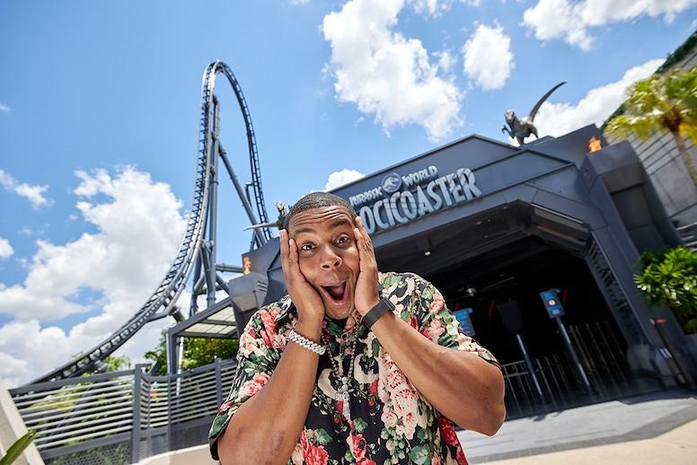 Kenan Thompson, Jurassic World VelociCoaster, Universal Orlando Resort