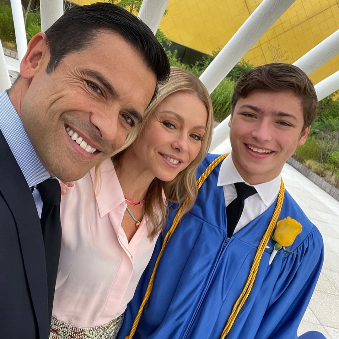 """Kelly Ripa Shares """"Brutally Painful"""" Experience of Dropping Son Joaquin Off at College – E! Online"""