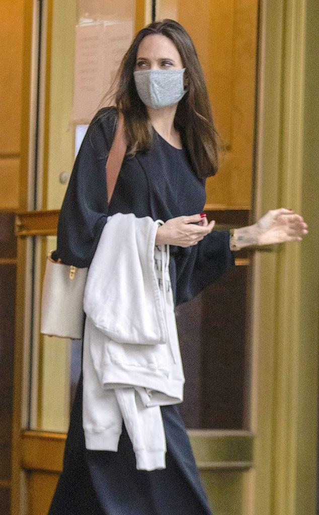Angelina Jolie Returns to Ex-Husband Jonny Lee Miller's Apartment - E!  Online - CA