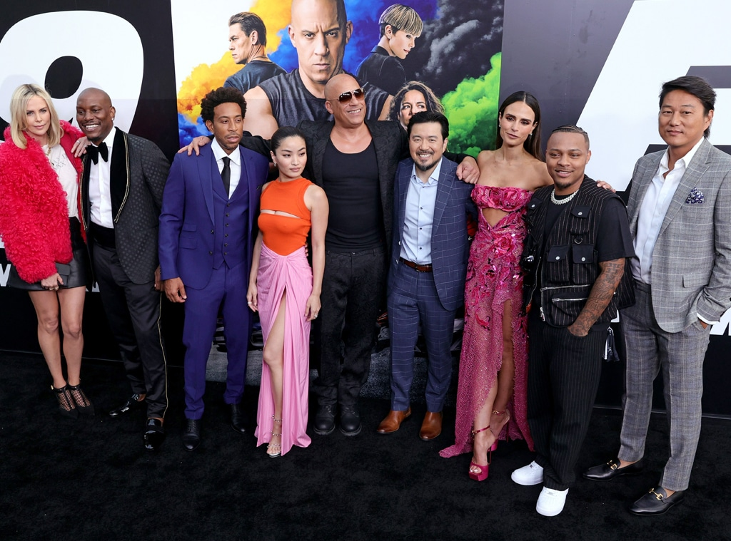 Charlize Theron, Vin Diesel, Tyrese Gibson, Jordana Brewster, Fast & Furious 9, F9 premiere, red carpet fashion