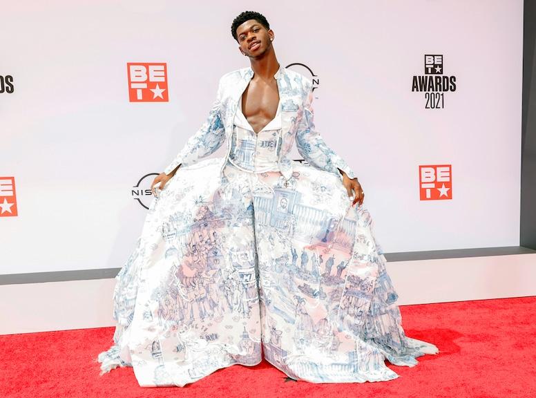 Lil Nas X, 2021 BET Awards, red carpet fashion
