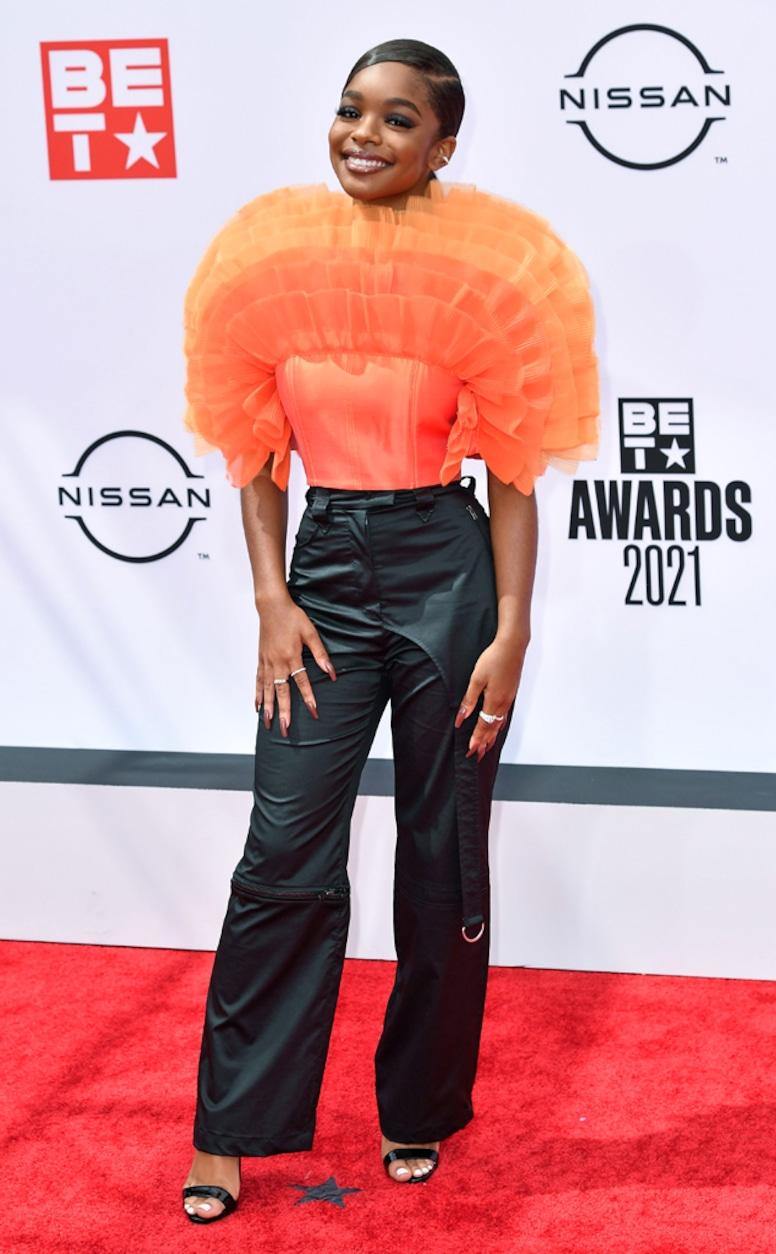 Marsai Martin, 2021 BET Awards, red carpet fashion
