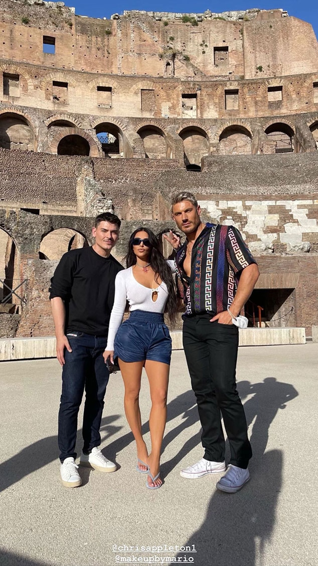 Kim Kardashian, Rome, Chris Appleton, Mario Dedivanovic