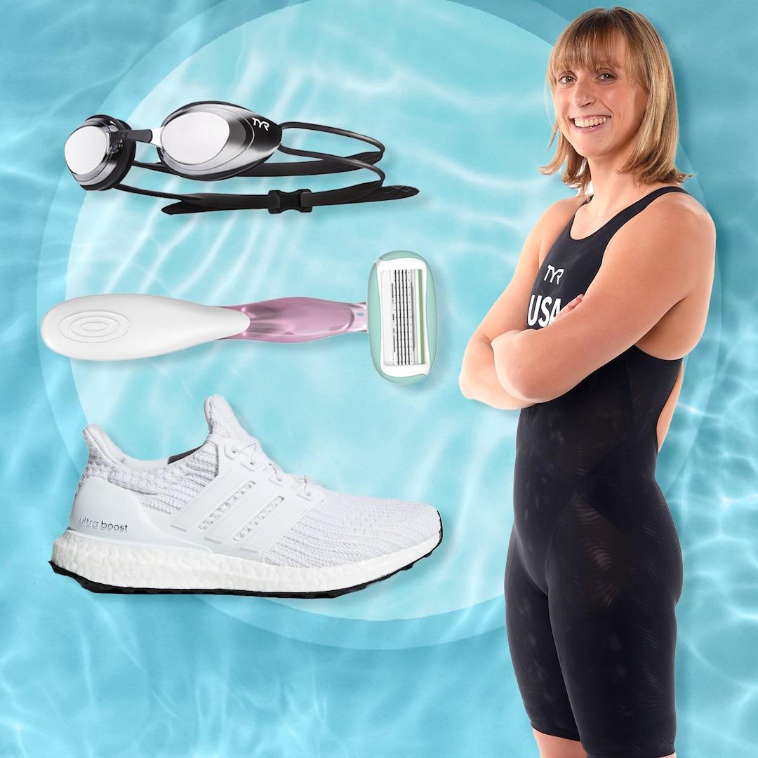, Olympian Katie Ledecky Shares What's In Her Swim Bag – E! Online,