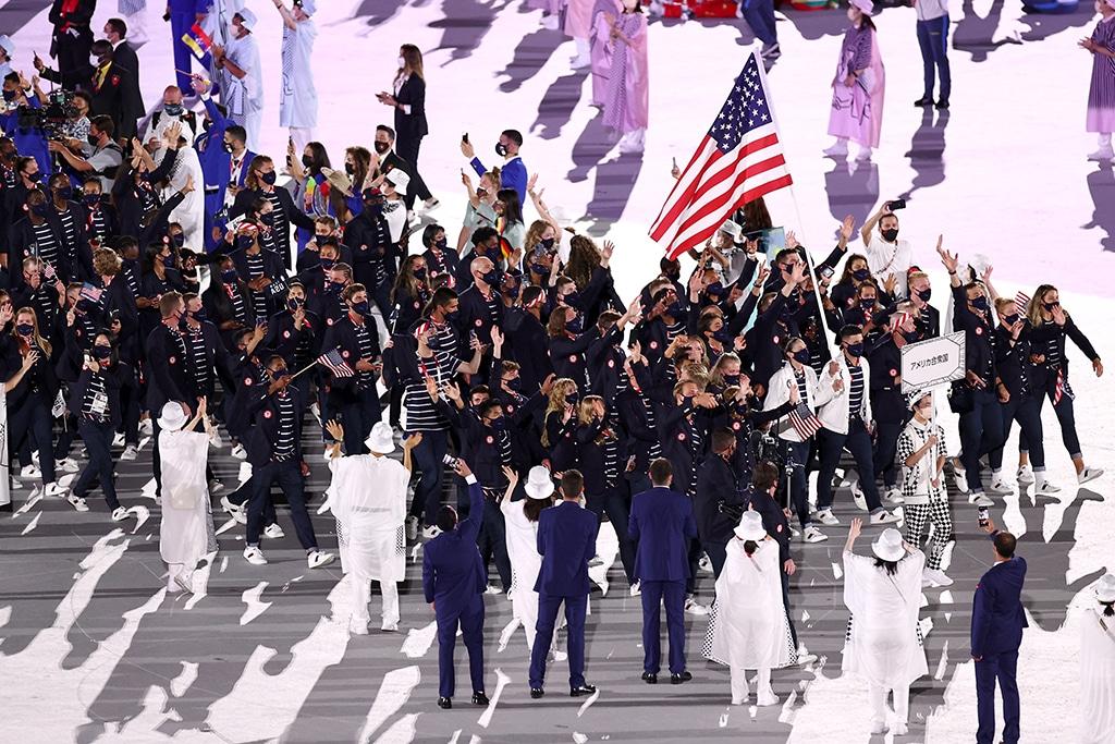 Opening Ceremony, 2020 Tokyo Olympics, United States, Sue Bird, Eddy Alvares