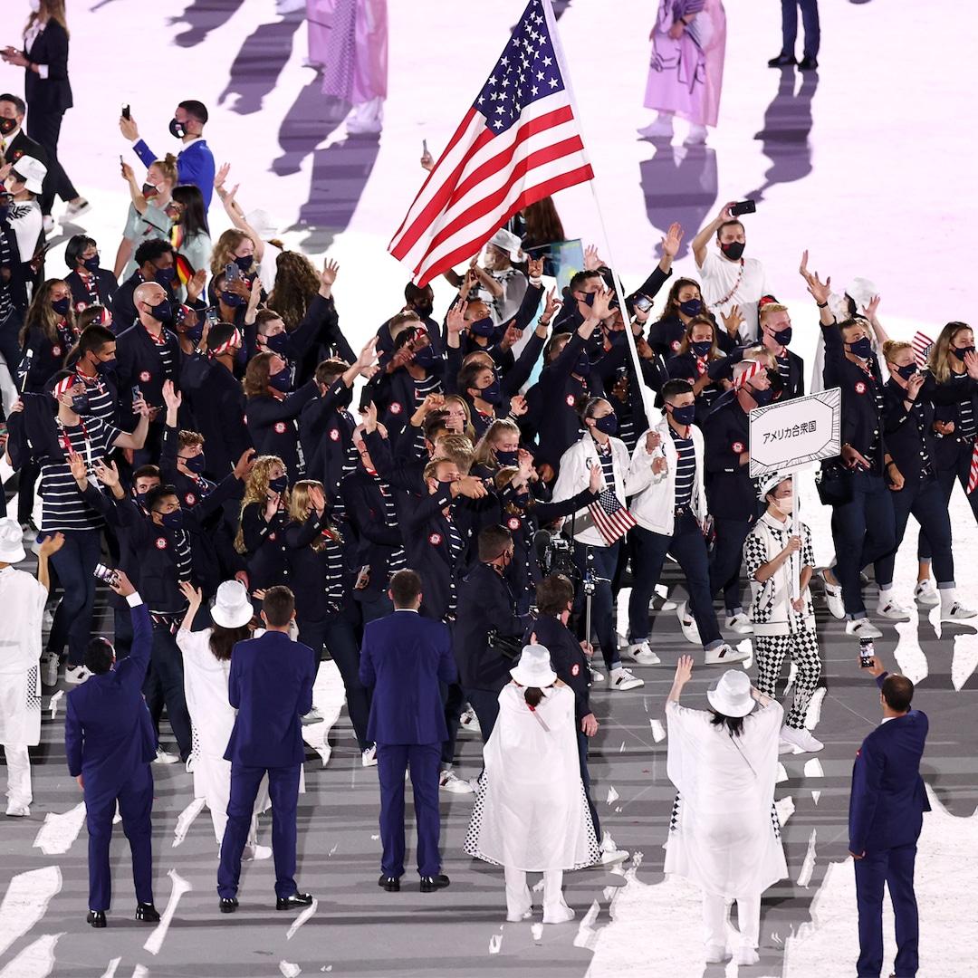 Sue Bird and Eddy Alvaraz Carry the American Flag As They Lead Team USA Into the 2020 Tokyo Olympics