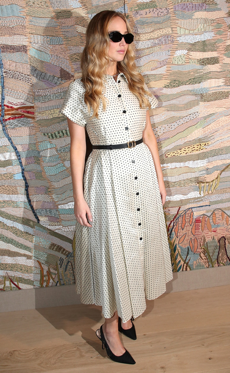 Jennifer Lawrence, Paris Haute Couture Fashion Week Star Sightings, Pregnant