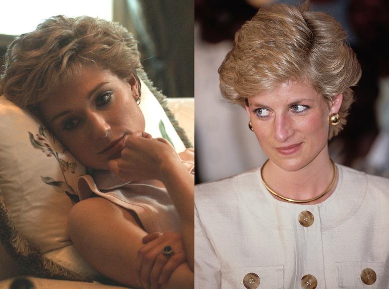 The Crown Cast VS. the Real Life Royals, Elizabeth Debicki, Princess Diana