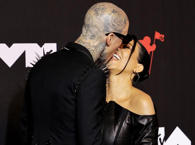 Travis Barker, Kourtney Kardashian, 2021 MTV Video Music Awards, MTV VMAs, Candids